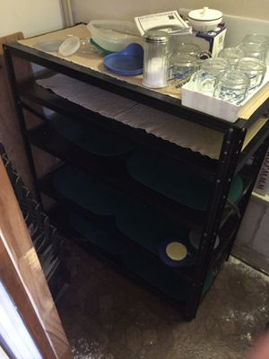 Black Metal Shelving - 5 shelves reduced for Sale in Conroe, TX