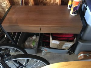 Small space desk metal and wood for Sale in Lafayette, CO