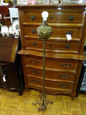 Antique meridian brass 1900s floor lamp for Sale in La Mesa, CA