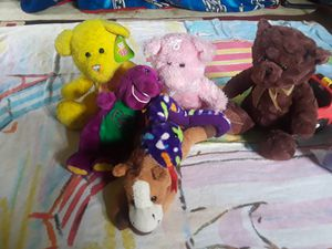 Barney. sugar loaf,horse,sneck,pink bears, brown bears for Sale in Jonesboro, GA