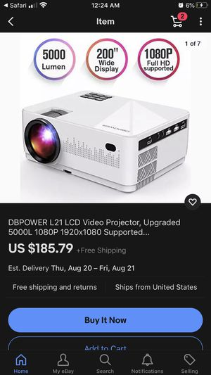 DP-POWER L21 LCD MINI PROJECTOR for Sale in Kansas City, MO