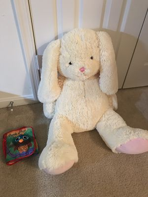 Giant stuffed animal plush bunny for Sale in North Potomac, MD