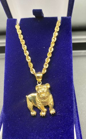 "10k real gold gold chain and pendant 18"" 3.3mm for Sale in Aurora, CO"