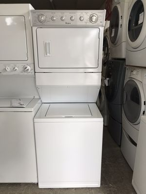 "Vertex Appliances. Sale & services. Used,27"" stack washer& dryer, electric dryer, heavy duty , super capacity plus, great condition for Sale in San Jose, CA"