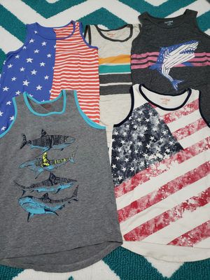 6 boys tank tops size M(8/10) for Sale in Lathrop, CA
