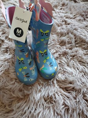 Girl raining boots size7/8 toddler for Sale in Long Beach, CA