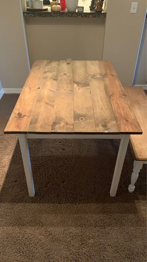 Dining Room Table Farm Style w/Bench for Sale in Scottsdale, AZ