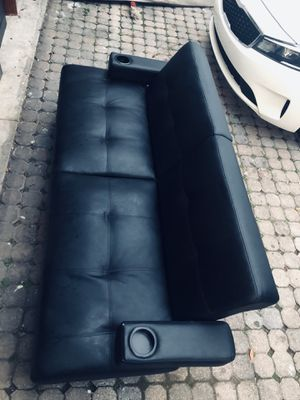 Black Leather Futon for Sale in Titusville, FL