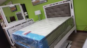 Queen size bedroom set. Financing available. No credit check for Sale in Las Vegas, NV