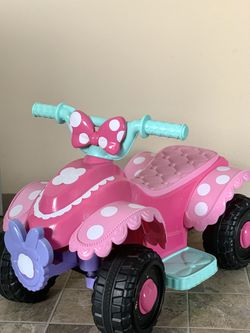 Kid Disney 6-Volt Minnie Mouse Quad Ride-On for Sale in Everett,  WA