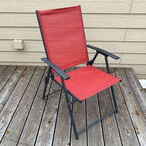 Sturdy Red Outdoor Chairs X4 for Sale in Dallas, TX