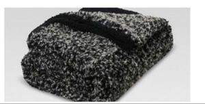 New furry faux fur blanket gray farmhouse modern for Sale in Wrightsville, PA