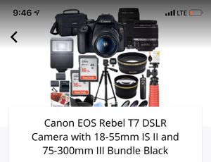Canon EOS Rebel T7 DSLR Camera (Brand New) with full Bundle. Color: Black for Sale in Glendale, CA