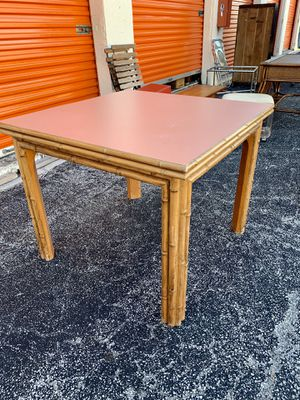Vintage bamboo card table that expands to dining table for Sale in Lake Worth, FL