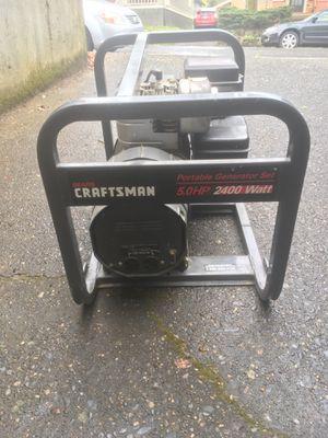 2400 watt craftsman generator for Sale in Portland, OR