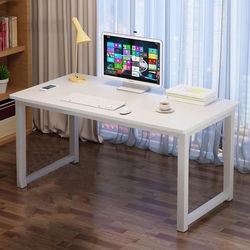 """28"""" H x 47"""" W x 23"""" D White computer Desk office table student table for Sale in Walnut,  CA"""