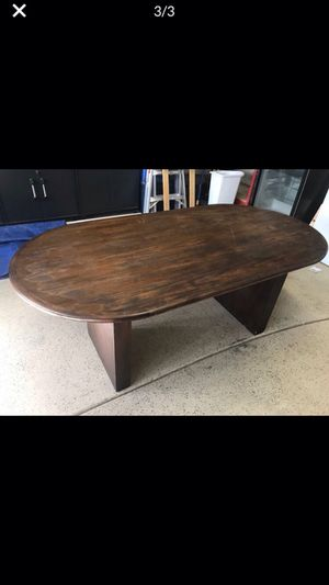 Computer Desk / Dining Table - Solid Walnut Top for Sale in Visalia, CA