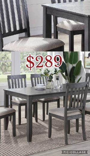 7pcs dining table set, table, chairs for Sale in Los Angeles, CA