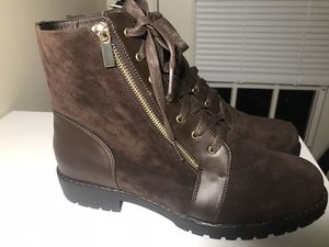 Brown Suede Combat Boots 9.5 for Sale in Nashville, TN