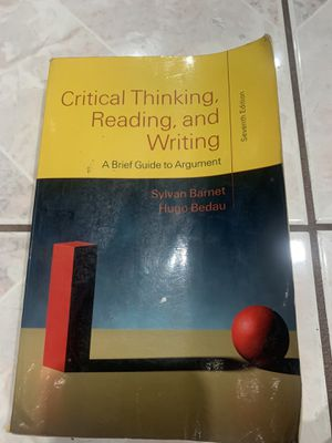 Critical Thinking, Reading and Writing 7th edition for Sale in La Puente, CA