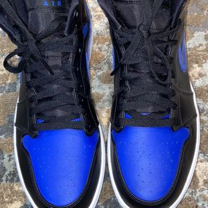 Jordan 1 Mid Hyper Royal Size 12 In Perfect Condition, Worn Once for Sale in Atlanta, GA