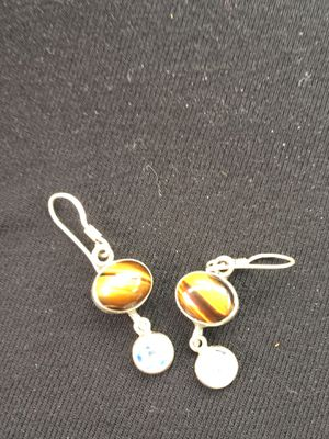 Tigers eye and moonstone earrings for Sale in Swannanoa, NC