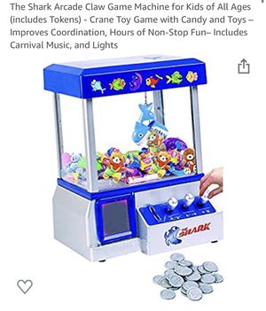 The Shark Arcade Claw Game Machine for Kids of All Ages (includes Tokens) - Crane Toy Game with Candy and Toys – Improves Coordination, Hours of Non- for Sale in Chino Hills, CA