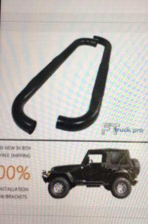 """Jeep 3"""" Black Nerf Bars - Side Step 1987-2006 Jeep for Sale in Washington, DC"""