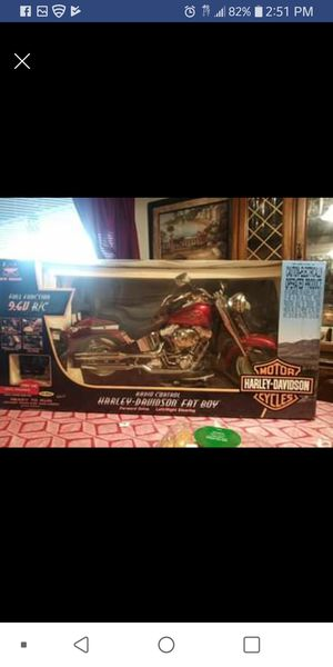 Harley Davidson radio control fat boy motorcycle collectable for Sale in Casselberry, FL