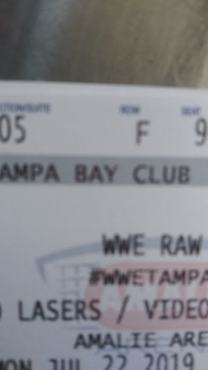 WWE Monday Night Raw July 22nd sold out show $65 for Sale in Tampa, FL