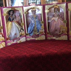 Disney Princess Brass Key Porcelain Doll Set Of 5 for Sale in Mesa, AZ