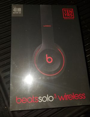 Beats Solo 3 Wireless Black Red for Sale in San Antonio, TX