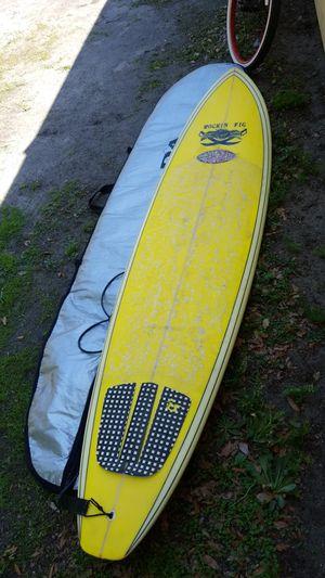 "Smith built rockin fig 8' x 21.5 x 2.75"" longboard surfboard w'bag mint cond for Sale in Orlando, FL"
