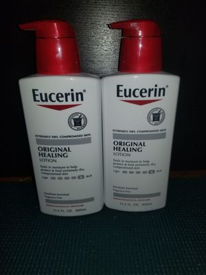2 Eucerin original healing lotion 13.5oz for Sale in MD, US