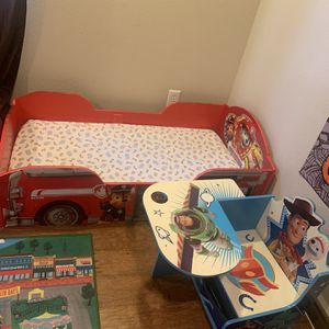 Toddler Paw patrol Bed And Toddler Woody Desk $200 for Sale in Fontana, CA