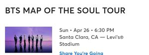Bts ticket for Sale in Antioch, CA