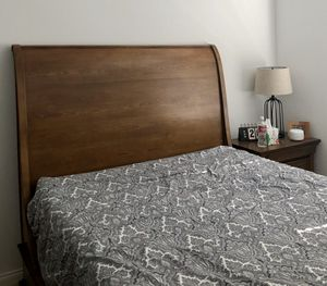Queen Sleigh Bed and night stand for Sale in Laguna Niguel, CA