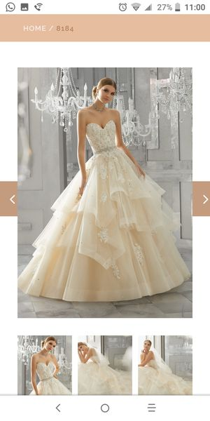 Custom Made Princess Style Wedding Dress for Sale in Brownsville, TX