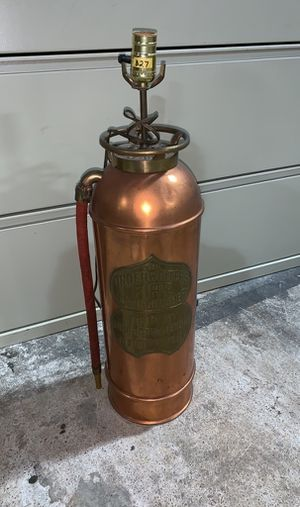 Antique Copper Fire Extinguisher Lamp for Sale in Atlanta, GA