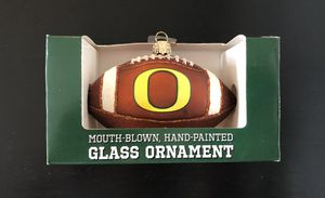 Oregon Ducks NCAA College Football Glass Ornament Hand Painted Collegiate Collection - BRAND NEW!! for Sale in Orangevale, CA