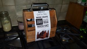 BLKSMITH Wood Beer Bottle Caddy holder with built in bottle opener. for Sale in Silver Spring, MD