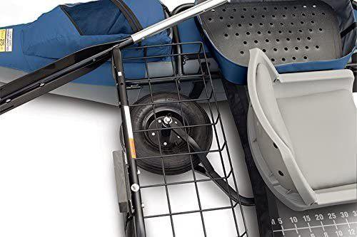 Colorado XTS Inflatable Fishing Pontoon Boat With Transport Wheel, Motor Mount & Swivel Seat