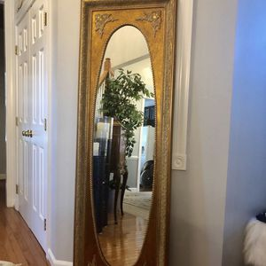 Large antique full length wooden mirror for Sale in Gainesville, VA