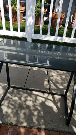 DESK METAL WITH GLASS. IT FOLDS for Sale in San Diego, CA