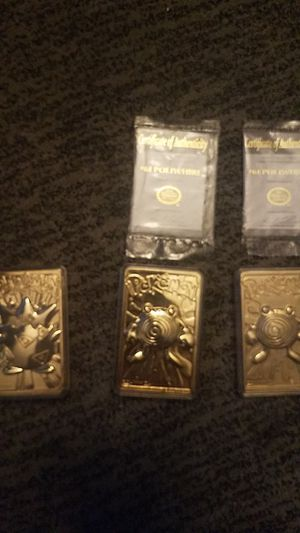 Collectible 23k gold plated Pokemon cards for Sale in Liberty, NC