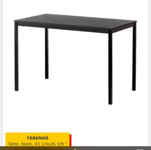 Black Ikea Table and 4 Chairs for Sale in Falls Church, VA