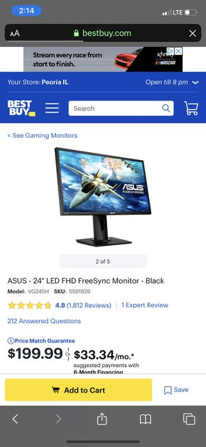 Asus VG245H for Sale in Macomb, IL