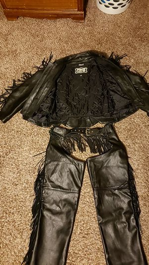 Leather jacket and chaps for Sale in Wichita, KS