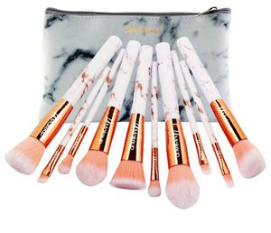 10pcs pink marble makeup brush set for Sale in Los Angeles, CA
