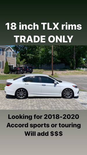 Tlx rims for trade . Brand new tires for Sale in Walpole, MA